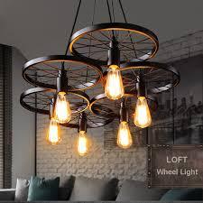 Russia Pendant Light Vintage Industrial Lamp Nordic Metal Wheel Lights Loft Dining Room Lighting For Chirstmas