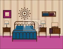 fototapete schlafzimmer innenraum hotelzimmer vektor im flachen design