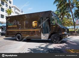 100 Food Trucks Miami Beach Usa March 2016 Ups Van Parked South Ups Stock