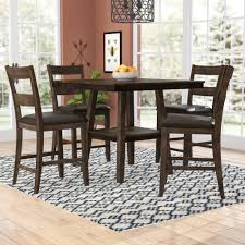 Rutkowski 5 Piece Counter Height Solid Wood Pub Table Set