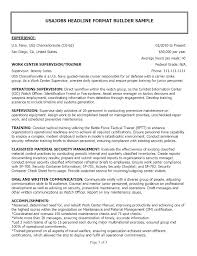 Sample Resume Of Military Experience Feat For Make Astonishing Including