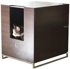 modern cat modern cat designs litter box hider brown cat