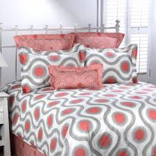 Coral Colored Bedding by Coral And Gray Bedding Designer Home Bedding U2013 American Made