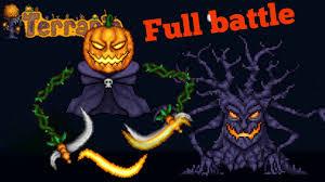 Pumpkin Moon Terraria by Terraria Pumpkin Moon Vs Influx Waver U0026 Paladins Hammer Youtube