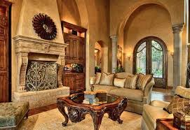 Living Room Natural Tuscan With Archway Pilars And Decorative