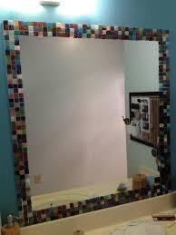 Blue Mosaic Bathroom Mirror by Best 25 Tile Around Mirror Ideas On Pinterest Tropical Bathroom