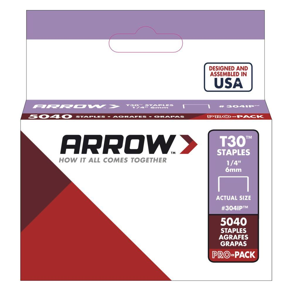 "Arrow Fastener Genuine Staples - 1/4"", 5040ct"