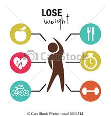 Lose weight over white background vector illustration vector clip