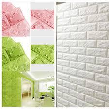 Image Is Loading New 3D Foam Stone Brick Self Adhesive Wallpaper