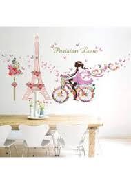charmante romantische fee mädchen wandaufkleber diy für