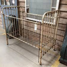 Antique baby crib cast iron and brass $395 vintage from