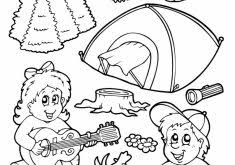 Camping Coloring Pages For Preschoolers