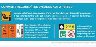 reglementation siege auto guide d achat siège auto i size kézako babyspirit