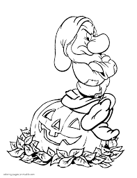 Download Coloring Pages Disney Halloween For Kids Printable Picture