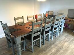 Pine Dining Room Table Large Farmhouse Chairs Oak Throughout Seat