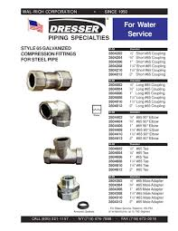 Dresser Couplings Style 65 by Dresser By Wal Rich