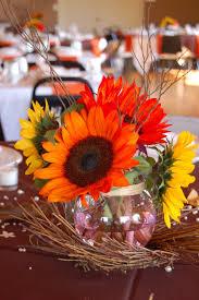 Fall Flowers Twigs Wedding Centerpieces By Samdogs