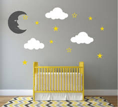 Wall Mural Decals Nursery by Wall Decal Amazing Look With Moon And Stars Wall Decals Sun And