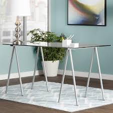 Wayfair Glass Corner Desk by Best 25 Glass Top Desk Ideas On Pinterest Milk Paint Home Depot