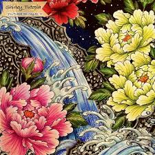 Mountain Stream Peony The Video Is Available On My YouTube Adult ColoringColoring