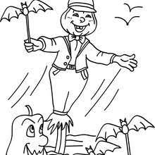 Pumpkin Patch Coloring Pages by Scarecrow In Pumpkin Patch Coloring Pages Hellokids Com