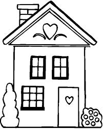 dessins de maison à colorier