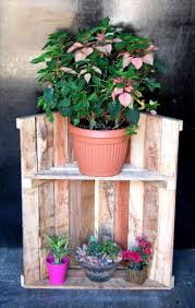 Recycled Pallet Garden Pot Rack