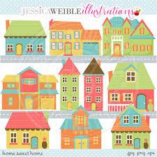 Home Sweet Cute Digital Clip Art