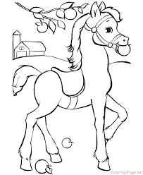 Coloring Page Horse Mother And Foal Pages Download Farm Animals Cartoon