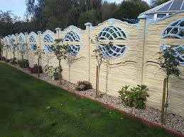 Decorative Garden Fence Panels by Build Stone Fence Panels Design U0026 Ideas