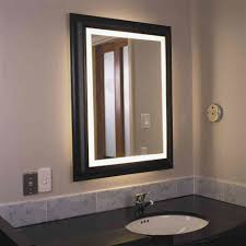 Framed Bathroom Mirror Ideas New Lighted Bathroom Wall Mirror ... Mirror Ideas For Bathroom Double L Shaped Brown Finish Mahogany Rustic Framed Intended Remodel Unbelievably Lighting White Bath Oval Mirrors Best And Elegant Selections For 12 Designs Every Taste J Birdny Luxury Reflexcal Makeover Framing A Adding Storage Youtube Decorative Trim Creative Decoration Fresh 60 Unique
