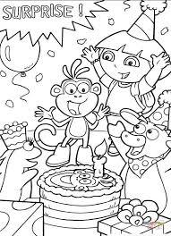 Dora The Explorer Fancy Coloring Pages