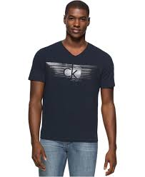 calvin klein jeans men u0027s lined ckj graphic print logo v neck t