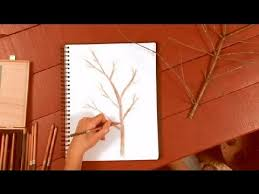 How to Draw Tree Branches in Colored Pencil How to Draw with Colored Pencils