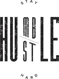 Stay Humble Hustle Hard Motivational Poster Paper Print