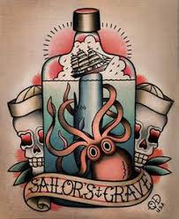Sailors Grave Nautical Tattoo Flash