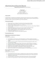 Senior Account Executive Advertising Resume Sample Global Project Manager Resumes