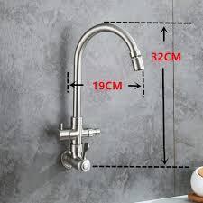 wasserhahn kaltwasser wandmontage aus edelstahl mit