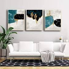 abstraktes blatt poster goldbaum leinwand bild vogel