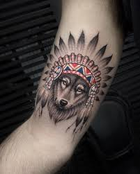 This Spiritual Wolf Tattoo