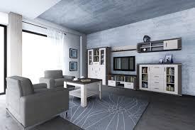 wohnzimmer komplett set a aitape 6 teilig farbe sonoma eiche dunkel sonoma eiche hell
