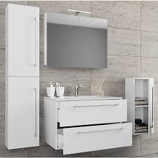 5 tlg waschplatz badmöbel badezimmer set waschtisch waschbecken schubladen keramik badinos spiegelschrank weiß vcm