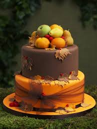 The Rustic Cake With Marzipan Fruits As Pictured In Wedding Art And Design