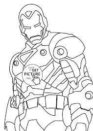 Iron Man Hero Coloring Pages For Kids Printable Free