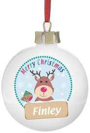 Christmas Tree Name Baubles by Buy Your Personalised Rudolph Ceramic Christmas Tree Bauble