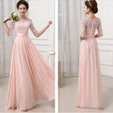 elegant women long dress long sleeve ball gown formal evening