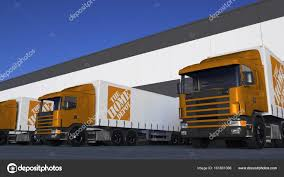 100 Home Depot Truck Freight Semi Trucks With The Logo Loading Or Unloading At