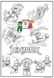 Big Bundle Of Ninjago Coloring Pages Golden Ninja