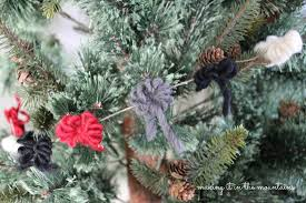 Silver Tip Christmas Tree Oregon by Rustic Christmas Tree Garland Making It In The Mountains
