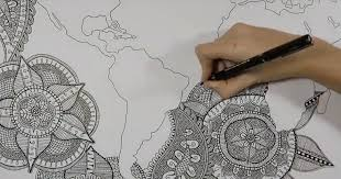 Artist Devotes 100 Hours To Creating A Mandala Map Of The Earth